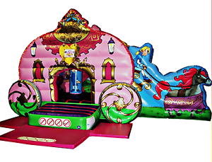 35x15x15 Commercial Inflatable Princess Carriage Castle Bounce House