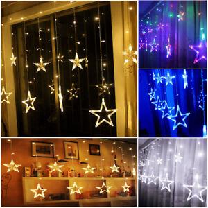 Led Lichterkette Funkeln.Details Zu Led Lichterkette Stern Vorhang Fenster Funkeln Weihnachten Party Hochzeit