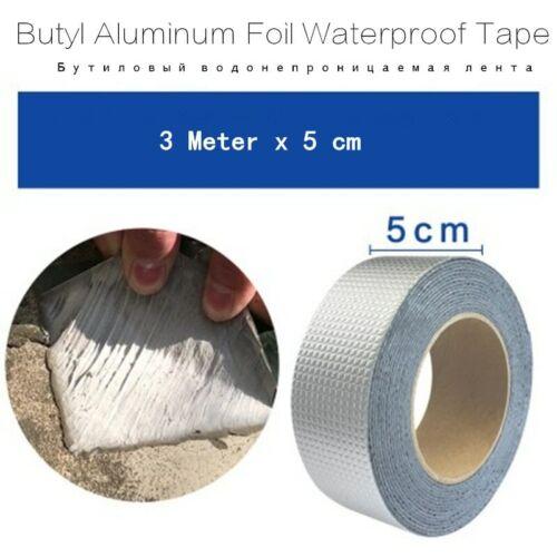 Cinta adhesiva de butilo lámina de aluminio impermeable Conducto De Reparación Cinta Super Crack