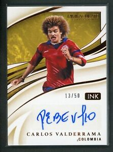 2020 CARLOS VALDERRAMA 13/50 AUTO PANINI IMMACULATE COLLECTION INK AUTOGRAPHS