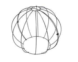 Topiary metal wire frames set BALL GLOBE 50+40+30cm buxus boxwood balls pruning