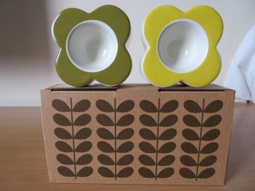 2 x Orla Kiely Abacus Fleur SUNSHINE /& en jonc de mer coquetiers Entièrement neuf dans sa boîte