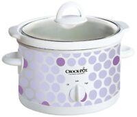 Crock Pot Scr250-polka 2-1/2-quart Slow Cooker, Polka Dot Pattern , New, Free Sh on sale
