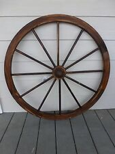 "36"" Wooden Wagon Wheel Decorative with Hubs 36 inch"