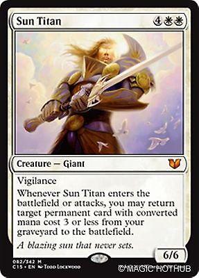 SUN TITAN Commander 2014 MTG White Creature — Giant Mythic Rare