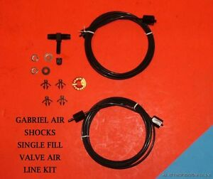 Details about Gabriel Air shock hose kit with the single fill valve option