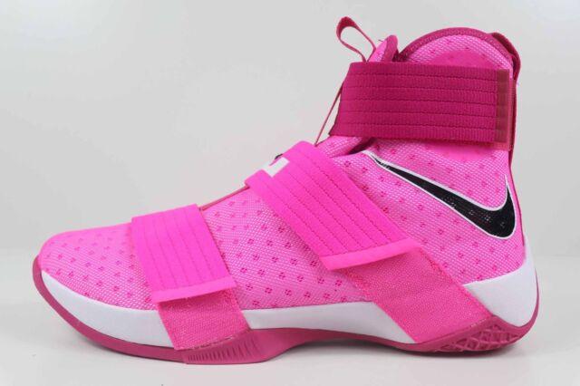 79f021c6943 Nike LeBron Zoom Soldier 10 Kay Yow Pink Blast Black 844374 606 Size 11.5  New