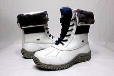 Ugg Womens Adirondack II White / Blue Color Snow Boots Size 9 US
