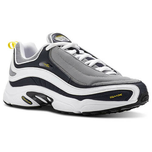 Reebok Men CN3809 Daytona DMX Casual shoes navy grey yellow sneakers