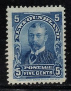 Newfoundland-Sc-85-1899-5c-blue-Duke-of-York-stamp-mint-Free-Shipping