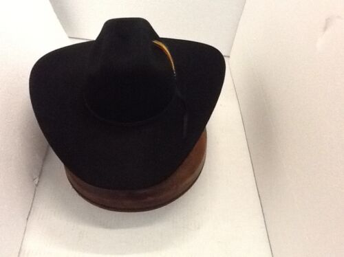 Stetson Cowboy Hat 6X Beaver Fur BLACK  LockHart Free Hat Brush+No Tax Sale!!
