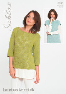 Sublime Luxurious Tweed DK pattern 6096