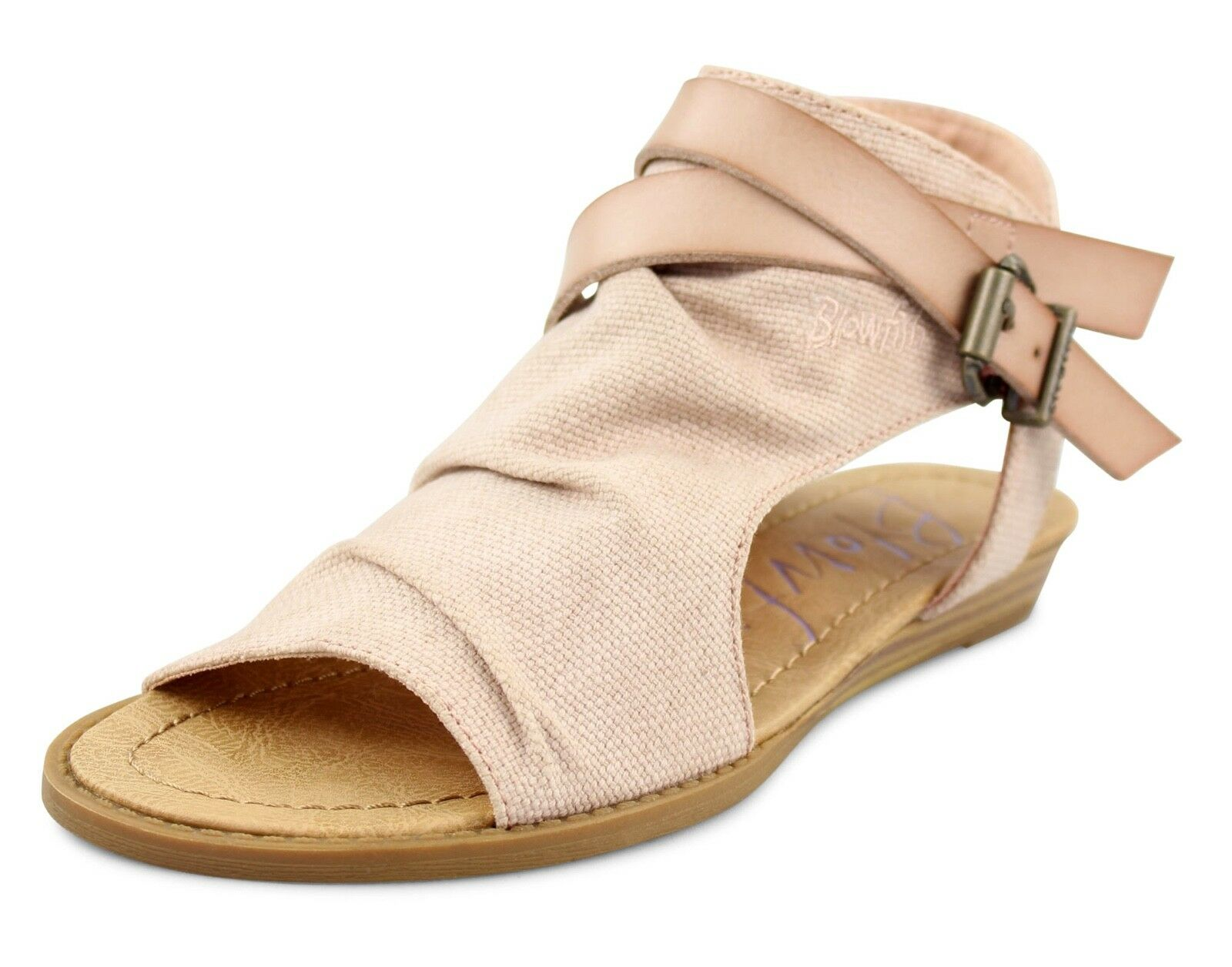 Blowfish NEW Balla bleush rose canvas open toe flat sandalschaussures Taille UK 3-8