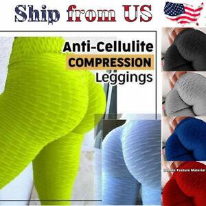 Les femmes TikTok Yoga Pantalon anti-cellulite Compression Push Up Fitness Leggings Gym