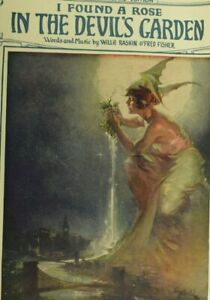 1921-Fantasy-Cover-Fairy-I-Found-A-Rose-In-The-Devil-039-s-Garden-Sheet-Music