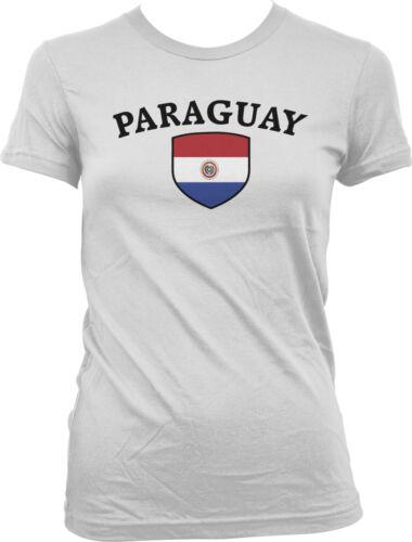Paraguay Flag Crest Paraguayan Bandera National Country Pride Juniors T-shirt