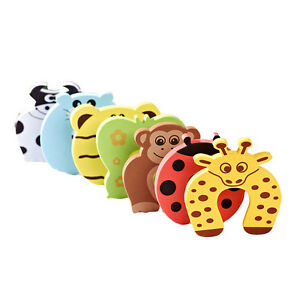 2-6X-Baby-Safety-Foam-Door-Jammer-Guard-Finger-Protector-Stoppers-Animal-EG