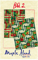 Bq 2, Quilt Pattern For Large Scale Quilting Fabrics, Diy 4 Sizes, Maple Island