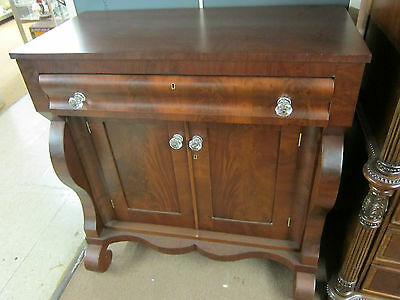 Antique Empire Style Walnut Server with Glass Knobs