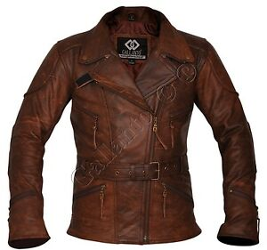 Jackets vintage women for leather girls brown men road