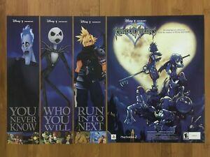 Kingdom Hearts PS2 Playstation 2 2002 Print Ad/Poster Original Official RPG Art