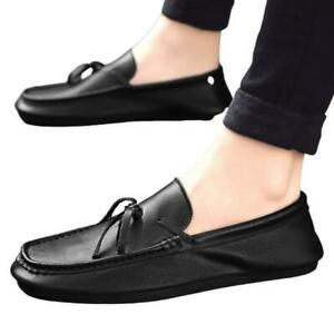 Mens Pumps Slip on Loafers Casual Leisure Faux Leather Driving Moccasins Shoes L