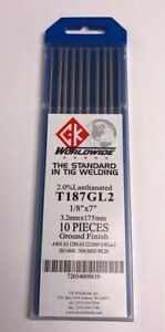 """Electrodes 3//32/"""" x 7/"""" Length 10 pack Gray TIG Welding Tungsten 2/% Ceriated"""