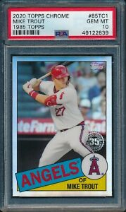 2020-Topps-Chrome-1985-Topps-35th-Anniv-Mike-Trout-85TC-1-PSA-10-ANGELS-GEM-MT
