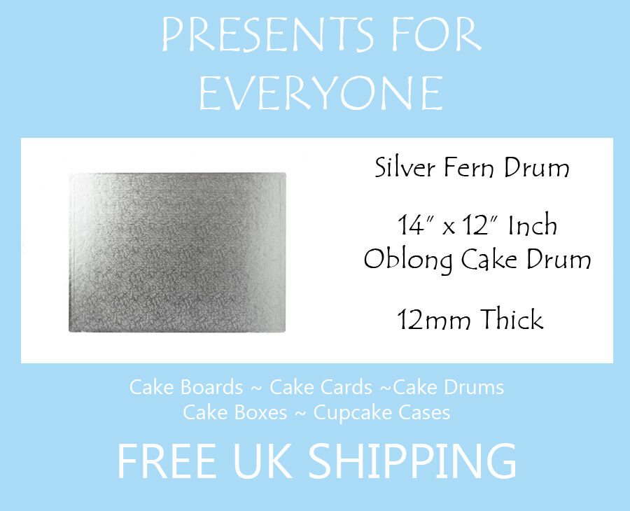 20 x 14  x 12  Inch Oblong Rectangular Wedding Birthday Cake Drum   Board 12mm