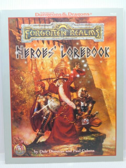 AD&D HEROES' LOREBOOK Forgotten Realms 9525 TSR 47805