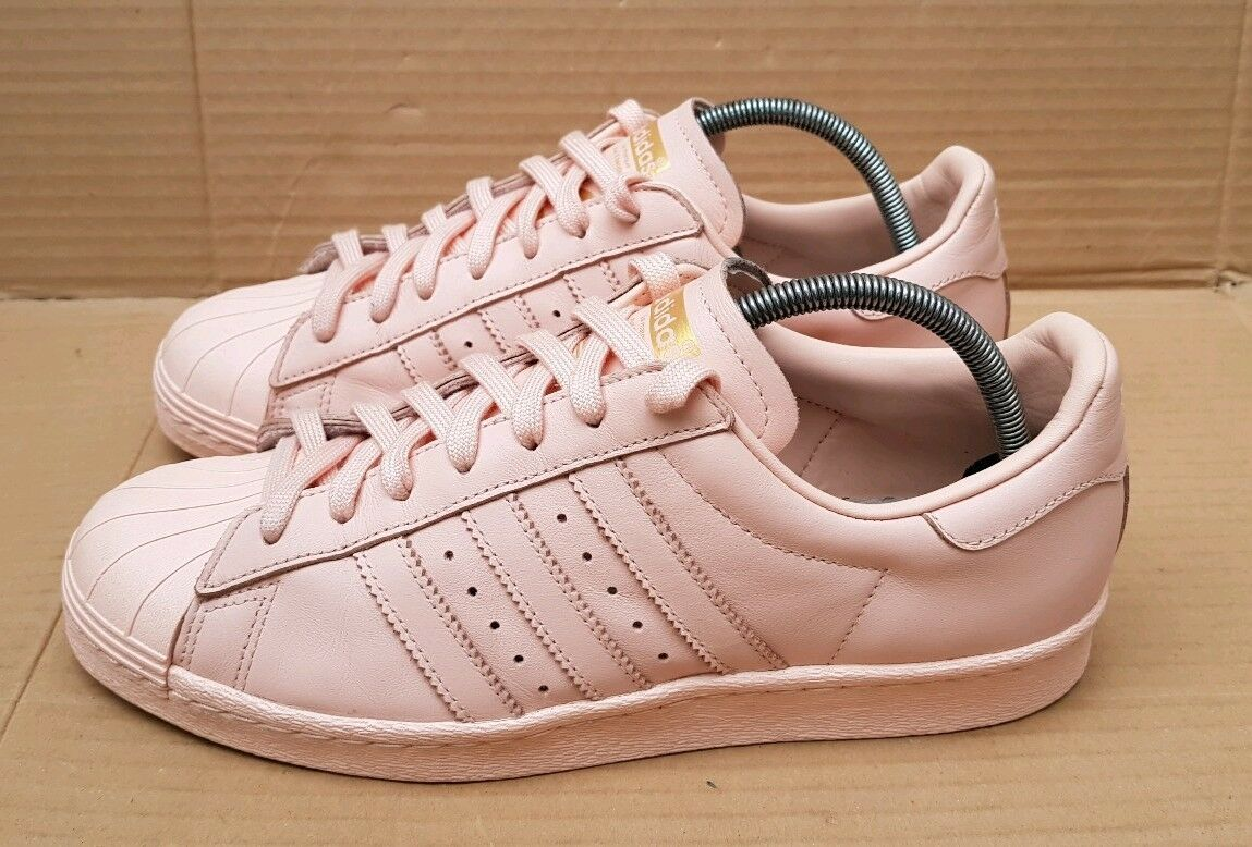 ADIDAS SUPERSTAR 80'S TRAINERS VAPOUR PINK gold SIZE 4 UK UK UK GORGEOUS EXCELLENT cd5e8b
