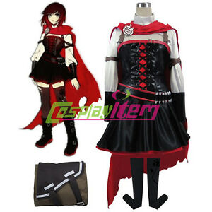 Marvelous Details About RWBY Volume 4 Ruby Rose Cosplay Costume Dress Adult Anime  Halloween Costume