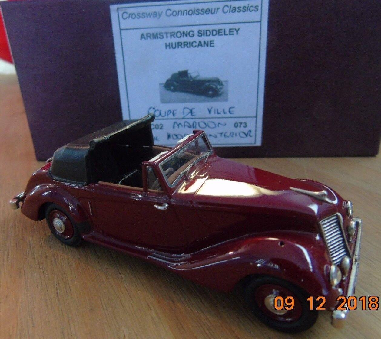 Crossway Models CCC02 Armstrong Siddeley Hurricane Maroon Coupe de Ville Ltd Ed