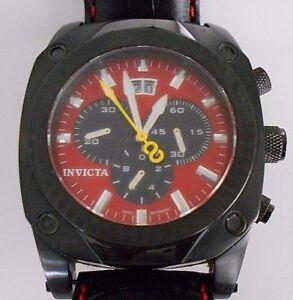 Mint-INVICTA-Corduba-4501-Red-Dial-Quartz-Watch-with-Box-Rare