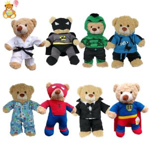 8-10-inch-25cm-TEDDY-CLOTHES-TUXEDO-SUPERBEAR-KARATE-PJ-SUPERBEAR-DINO-HOODIE