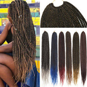 UK-Ultra-Thick-Kanekalon-Box-Braid-Easy-Crochet-Hair-Extensions-MULTI-Colors-GHK