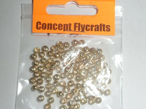 PACK OF 25 GOLDHEAD COUNTERSUNK BRASS BEADS GOLD FINISH 4mm for Fly Tying