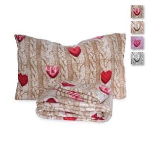 Lenzuola Matrimoniali Di Pile.Completo Lenzuola In Pile Wool Shabby Per Letto Matrimoniale Due