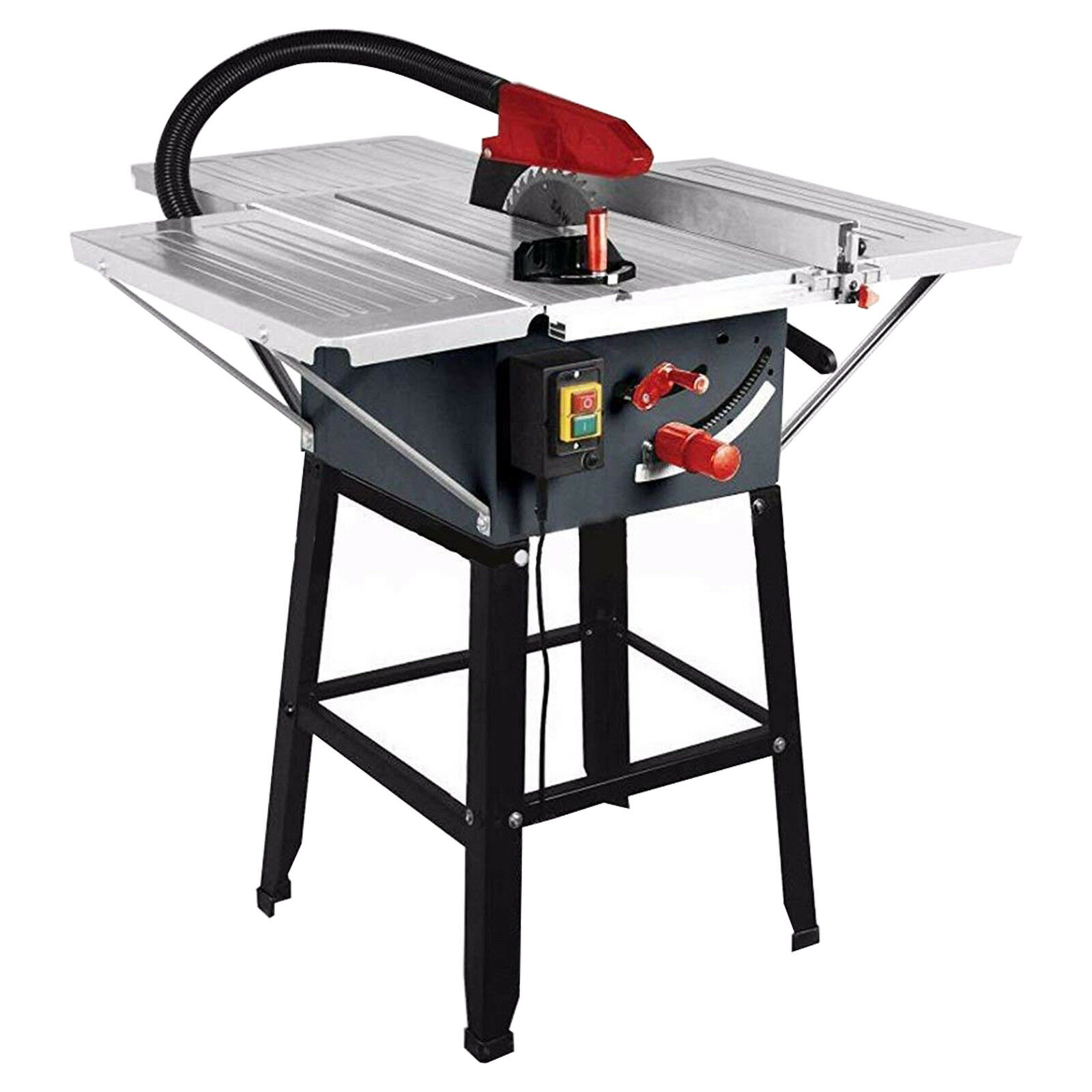 "Brand New Table Saw powerful 1800w 10"" 10"" 10"" Blade With 3 Steel Table Extensions 8487a6"