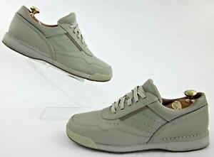 rockport prowalker mens casual walking shoes leather taupe