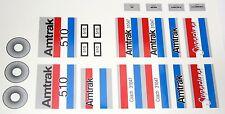 Custom stickers Amtrak 60051 LEGO 7938 7897 CSX TTX Norfolk Southern BNSF