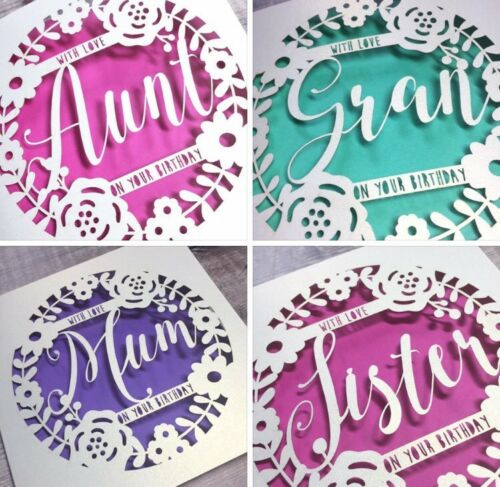 60th Auntie 70th 50th Personalised Aunt Floral Birthday Card Special Aunt