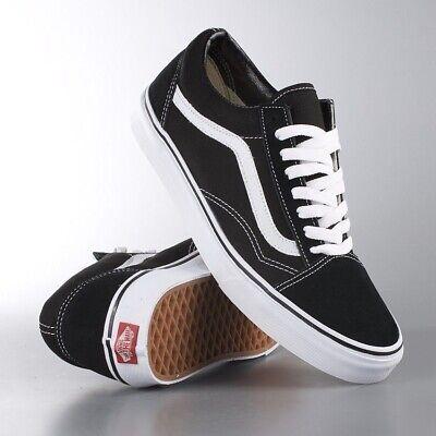 Vans Old Skool Sneaker Nero Bianco Scarpe Da Ginnastica Unisex-mostra Il Titolo Originale