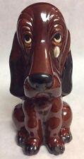 VTg Ceramic Piggy Coin Bank Brown Puppy Dog with Tear Savings Bank Figurine G3