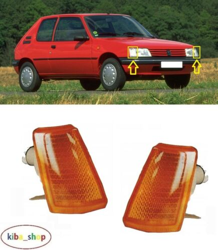 RIGHT FOR PEUGEOT 205 1983-1997 2X NEW FRONT INDICATORS REPEATERS LEFT