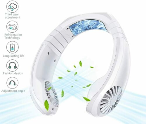 Hand Free Fan Rechargeable Portable Mini USB Battery Neck Fan 3 Level Air Flow