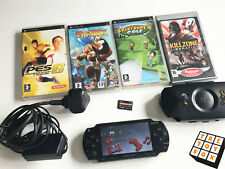 Item 1 Sony PlayStation Portable PSP 1004 Black Handheld Video Game Console Games Etc