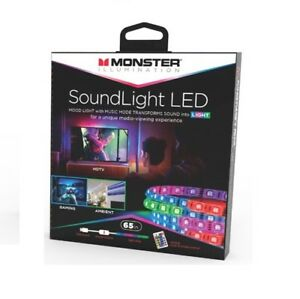 Details about Monster Illumination Sound to Light 60 Led Strip With Remote  up to 65