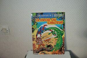 LIVRE-BD-AVENTURE-DE-L-ARAIGNEE-LA-PROIE-DU-CHASSEUR-n-21-1984-EDITION-LUG