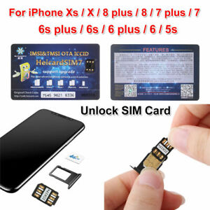 2021 UNLOCK Chip für iPhone X XS 8 Plus Entsperren der Sim-Karte ICCID IOS 13.5